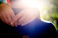engagement ring at a Colorado city engagement photo shoot
