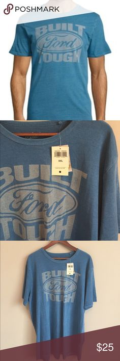 """Lucky Brand """"Ford"""" Graphic Tee. XXL. NWT. Lucky Brand """"Ford"""" Graphic Print Tee. XXL. New with tags! """"Built Ford Tough"""" on the front & """"Ford Motor Company"""" in the back. 100% Cotton. Lucky Brand Shirts Tees - Short Sleeve"""