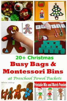 20+ Christmas Busy Bags & Montessori Bins!  Perfect for preschool Christmas & holidays!  PLUS enter to win one of four $500 giveaways!!