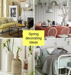 Use delicate shades of buttercup yellow, pinky coral and pale celadon green for this season's freshest spring decorating ideas.