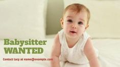 A creative babysitter ads video template. Babysitter wanted. A cute background of a baby. Cute Backgrounds, Babysitting, Ads, Templates, Creative, Image, Pretty Backgrounds, Stencils, Template