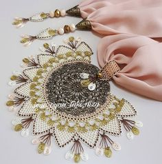 This Pin was discovered by Pam Long Silver Hair, Needle Lace, Hand Embroidery, Diy And Crafts, Handmade Jewelry, Brooch, Sewing, Crochet, Arkansas