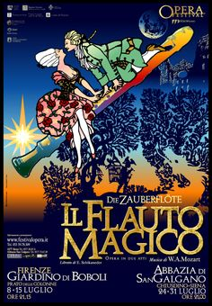 Emo Risaliti Lyric Opera Poster- The Magic Flute