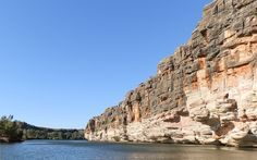 Geikie Gorge's Western Wall from the cruise boat, Western Australia! Cruise Boat, Western Wall, Western Australia, Places Ive Been, Grand Canyon, Tourism, Scenery, Wildlife, The Incredibles