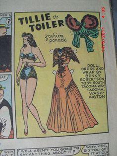 Tillie the Toiler 6-9-40 from Ebay