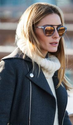 Olivia Palermo: Sunglasses – Westward Leaning  Coat – Dior