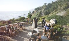 big sur wedding ceremony...if only I could figure out which private estate this is it would be perfect!