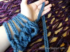 This is certainly the best I have seen for arm knitting instructions. She is slow and thorough and close enough to see how to do it! Woohoo!