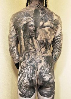Realism Indians Tattoo by Josh Duffy Tattoo - http://worldtattoosgallery.com/realism-indians-tattoo-by-josh-duffy-tattoo/