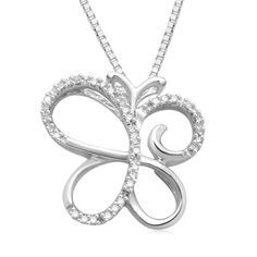 Sterling Silver Diamond Butterfly Pendant Necklace « Holiday Adds