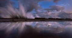 Waves crashing against the rock shelf of Luphuthana, South Africa © Emil von Maltitz Northern Lights, Clouds, Nature, Travel, Outdoor, Image, Outdoors, Naturaleza, Viajes