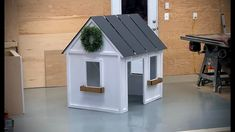 $70 Easy to Build Indoor Playhouse with free plans! Diy Furniture Plans Wood Projects, Woodworking Projects, Kid Furniture, Gable Wall, Cedar Shed, Indoor Playhouse, Wood Playhouse, Outdoor Cabana, Pony Wall