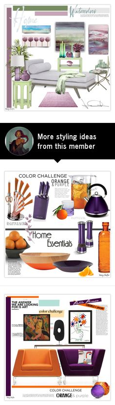 """""""Home Watercolors"""" by mcheffer on Polyvore featuring interior, interiors, interior design, home, home decor, interior decorating, Home Decorators Collection, Graham & Brown, Safavieh and Nearly Natural"""