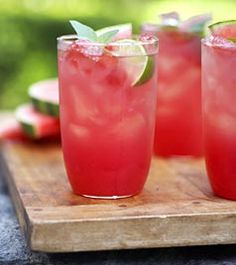 fresh watermelon juice  1 little seedless watermelon, peeled, coarsely chopped 1 lime juice cubes of ice 1 tbsp sugar (if you want)  Preparation Blend the pieces of watermelon and lime juice in a blender until smooth (few seconds). Add the ice cudes in the blender and mix for just a minute more.