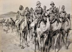 Camel Corps: Battle of Omdurman on September 1898 in the Sudanese War: picture by Frank Dadds