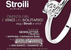 """""""SEGUI STROILI ORO E VINCI!"""" un anello solitario in oro bianco e diamanti 1ct. http://tuttoconunclic.altervista.org/blog/segui-stroili-oro-vinci-anello-solitario-oro-bianco-diamanti-1ct/"""