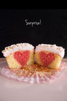 How to make a Surprise Heart Cupcake - surprisingly easy!