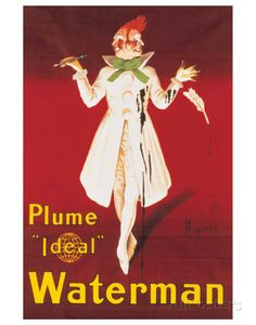 Waterman Premium Giclee Print by Leonetto Cappiello at AllPosters.com