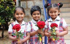 Beautiful little greeters a the Azalea School in Bangalore.