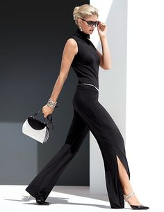 #madeleinefashion #sale Capri Pants Outfits, Madeleine Fashion, Fade To Black, Elegant, Summer Sale, Jumpsuit, Classy, How To Wear, Clothes