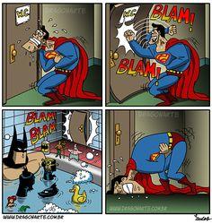 Eduardo Lucas Nascimento, known as Dragonarte, is a Brazilian comic artist. He draws Marvel and DC Comics universe in his own style Marvel Dc Comics, Heros Comics, Dc Comics Art, Marvel Funny, Humor Batman, Superhero Humor, Funny Cartoons, Funny Comics, Funny Comic Strips