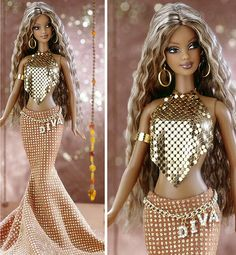Is this a Beyonce barbie! African American Dolls, American Girl, Beyonce Barbie, Glamour, Manequin, Diva Dolls, Dolls Dolls, Black Barbie, Barbie Friends