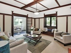 californian bungalow living room - Cerca con Google