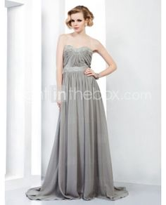 Sweetheart Chiffon Evening Dress with Beading inspired by Selena Gomez at Emmy Awards