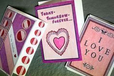 Hand-drawn cards for your valentine! #ValentinesDay #cards #love