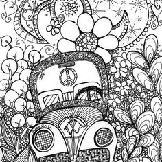 trippy bug zentangle coloring pages