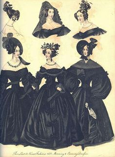 Mourning clothes - 1837