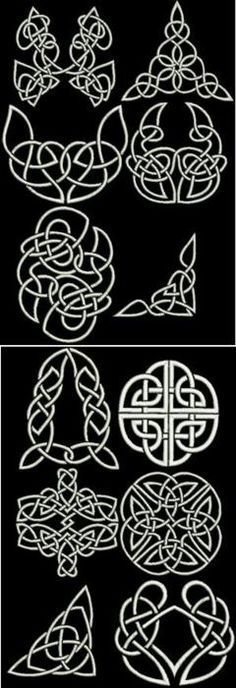 Embroidery Designs Machine Advanced Embroidery Designs - Celtic Motif Sets III and IV Celtic Symbols, Celtic Art, Celtic Knots, Celtic Heart Knot, Celtic Dragon, Embroidery Needles, Crewel Embroidery, Simple Embroidery, Brush Embroidery