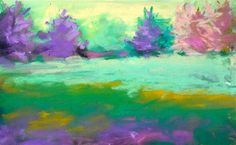 "Daily Paintworks - ""Dancing Trees"" - Original Fine Art for Sale - © Sandi Miller"