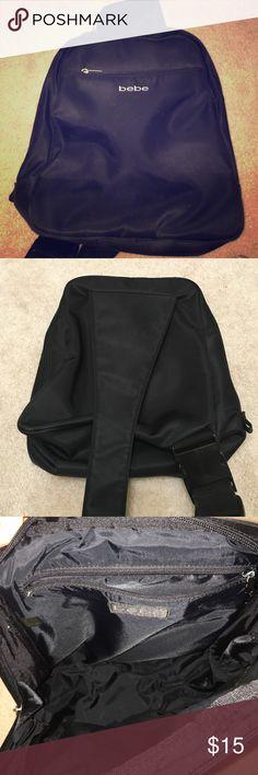 Bebe backpack Black Bebe one shoulder backpack. 11x13 inches bebe Bags Backpacks