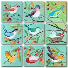 Printable Art Gallery Wall Art Prints Bird Paintings 18 | Etsy