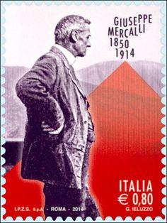 Emissione di un francobollo commemorativo di Giuseppe Mercalli, nel centenario della scomparsa