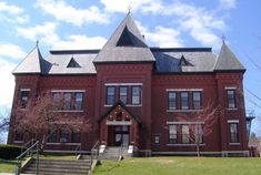 gothic high school building | the gothic revival municipal center 1884 was the high school until ...