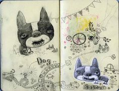 Delirantes sketchbooks de Jim Bradshaw