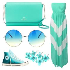 """Untitled #39"" by albertrkrogstrup on Polyvore featuring LE3NO, Converse and Kate Spade"