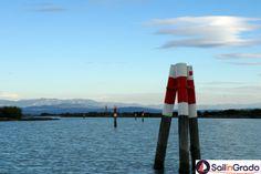 """La laguna di Grado, tipica """"Bricola"""""""