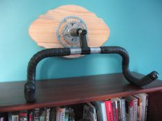 Handlebar Bicycle Rack by BicyclesRecycled on Etsy, $60.00