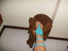 Pulseiras de pé feitas á mão de crochét Braga (São José De São Lázaro E São João Do Souto) - imagem 1