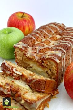 """Moist Caramel and Apple Loaf maybe dice the apples and """"drain"""" so they aren't so soggy on the bread"""