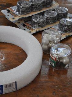 DIY Pot Scrubber Christmas Wreath