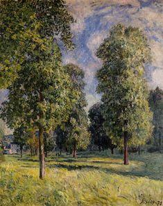 Alfred Sisley - Paysage à Sèvres