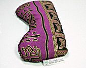 Great Christmas gift! Purple tribal print, Headache relief lavender and flax seed eye pillow, Aromatherapy eye pillow, flax eye pillow, flax heating pad, microwave eye pillow, anxiety relief, acupressure