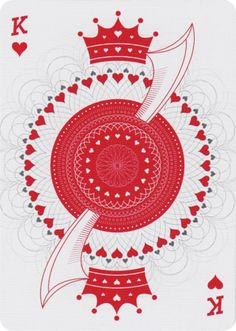 King of Hearts from Density Playing Cards Unique Playing Cards, Custom Playing Cards, Vintage Playing Cards, Jack Of Hearts, King Of Hearts, House Of Cards, Deck Of Cards, Play Your Cards Right, Letters And Numbers