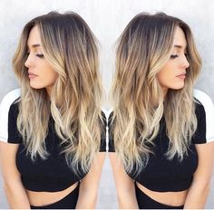 Here's Every Last Bit of Balayage Blonde Hair Color Inspiration You Need. balayage is a freehand painting technique, usually focusing on the top layer of hair, resulting in a more natural and dimensional approach to highlighting. Hair Color Balayage, Dark Brown To Blonde Balayage, Blonde Color, Bayalage, Dark Roots Blonde Hair Balayage, Blonde Ends, Hombre Blonde, Blonde Ombre Hair Medium, Blondish Brown Hair