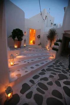 Mykonos Greece December 03 2016 at Villa Design, Design Hotel, House Design, Yard Design, Outdoor Spaces, Outdoor Living, Outdoor Decor, Conception Villa, Myconos