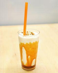 A pinch of sea salt brings out the rich caramel flavor of this velvety milkshake -- Salted Caramel-Pecan Shake Recipe